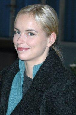 Nina Hoss at the set