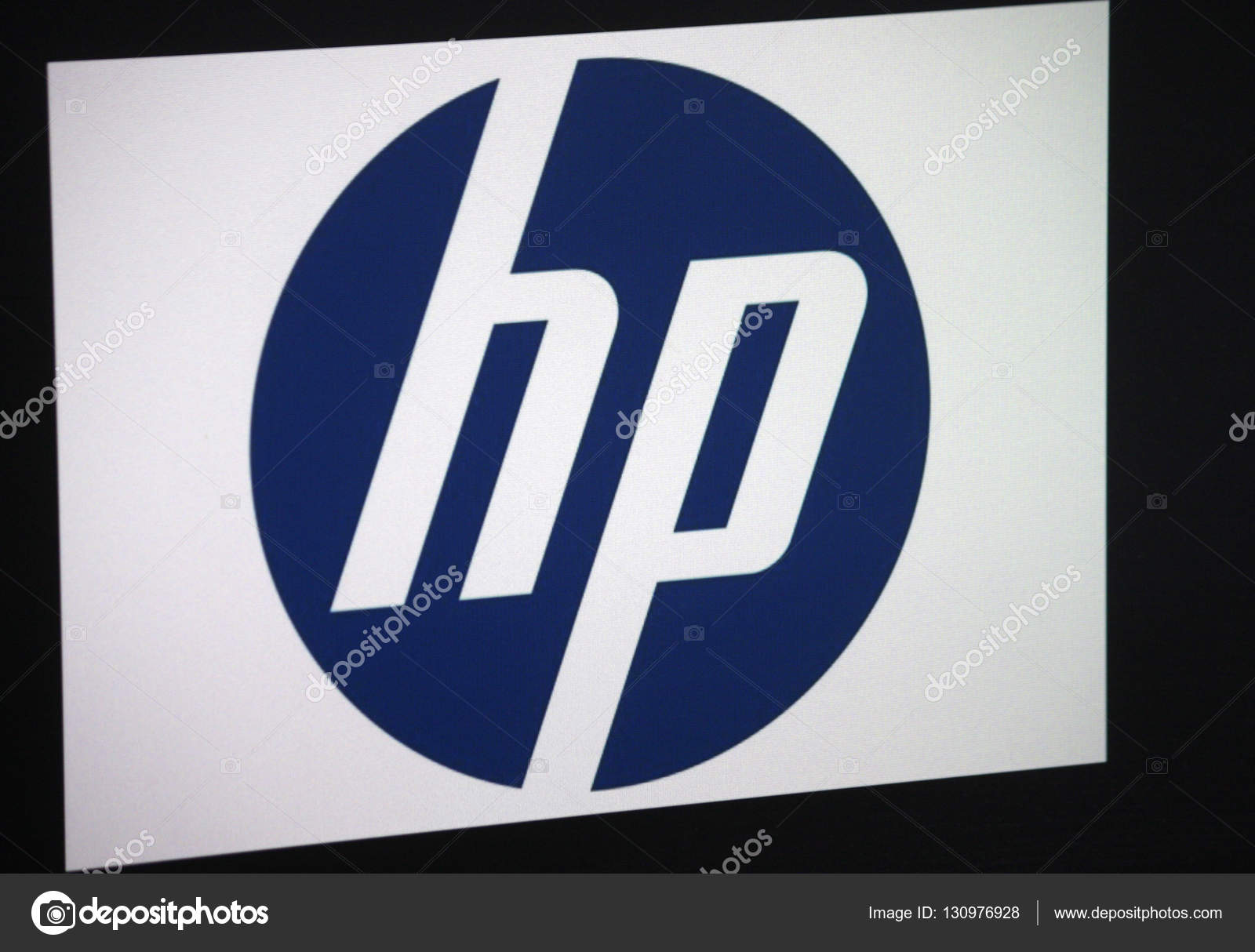 Logo Of The Brand Hp Hewlett Packard Stock Editorial Photo