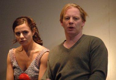 Naomi Krauss, Ben Becker at a rehearsal