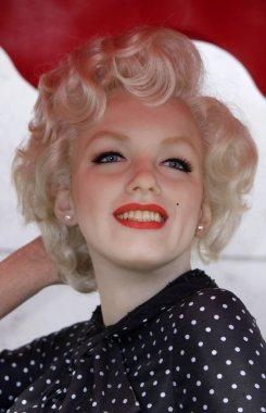 Marilyn Monroe figure made of wax