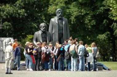 people near friedrich engels and karl marx monument in Berlin