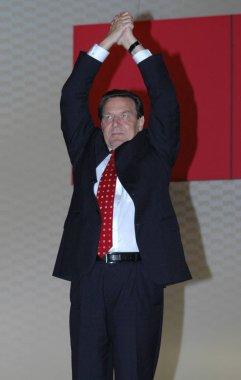 SPD leader Gerhard Schroeder