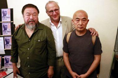 Chinese artist Ai Weiwei, Ulrich Schreiber, Lia Yiwu