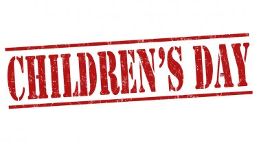 Universal Children's Day sign or stamp