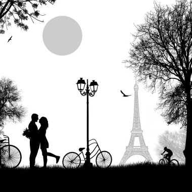 Lovers in Paris theme