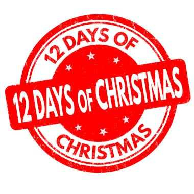 12 Days of Christmas sign or stamp