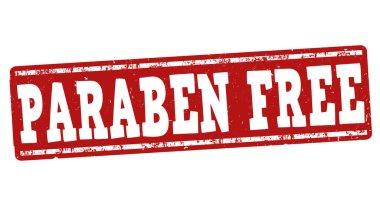 Paraben free sign or stamp