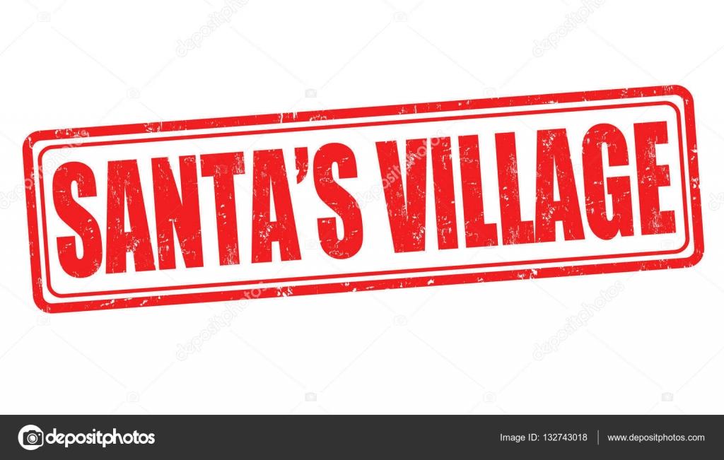 Noel Babanın Köy Işareti Veya Damga Stok Vektör Roxanabalint