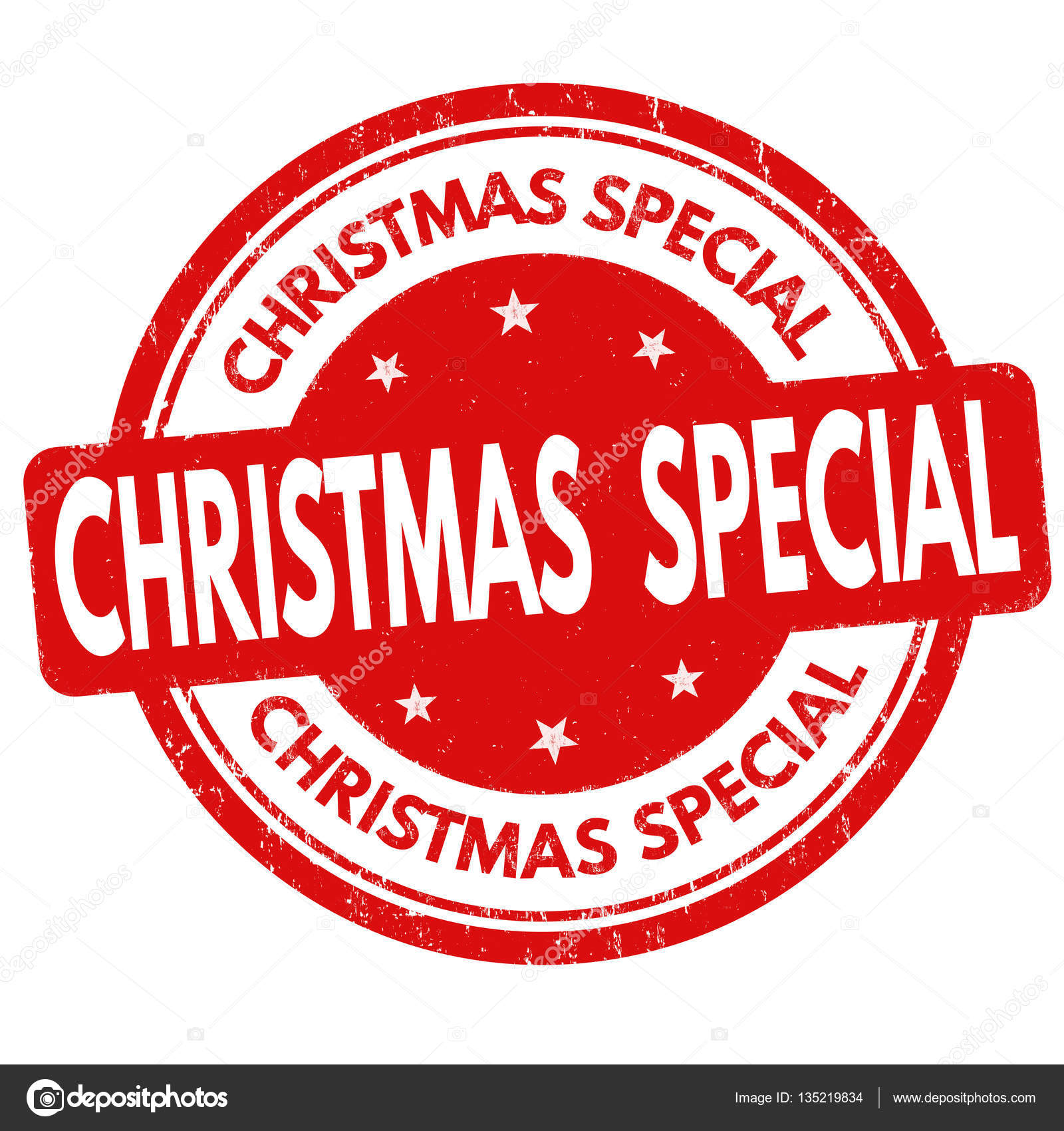 Christmas Special.Christmas Special Sign Or Stamp Stock Vector