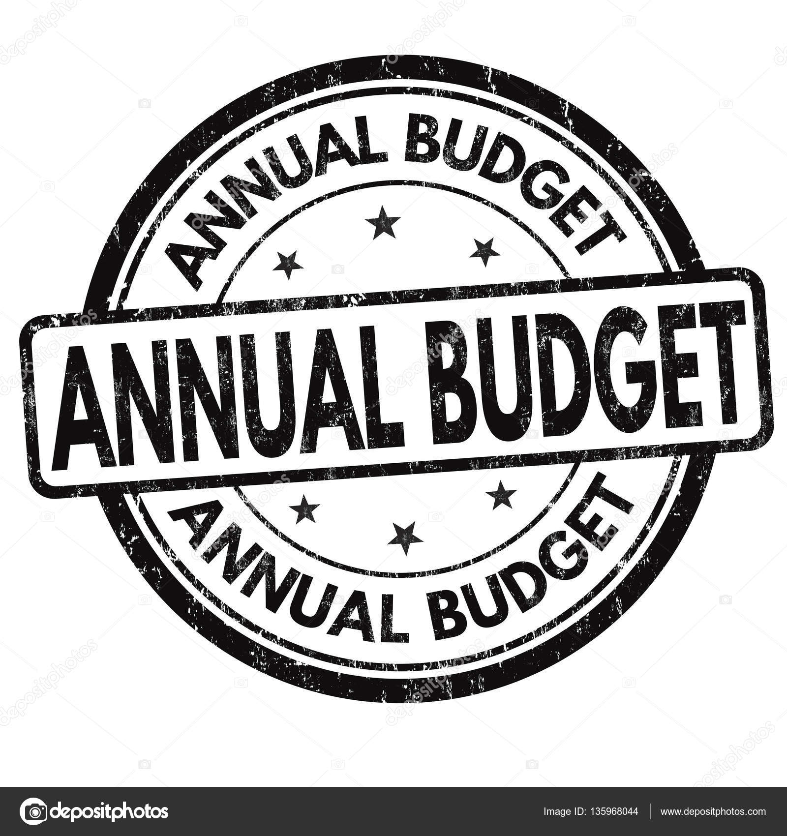 annual budget sign or stamp stock vector roxanabalint 135968044