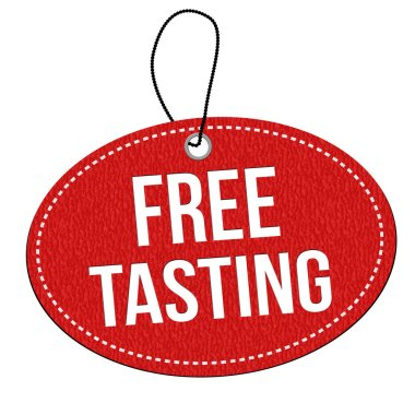 Free tasting label or price tag