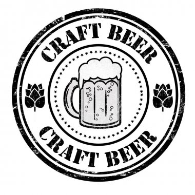Craft Beer sign or stamp