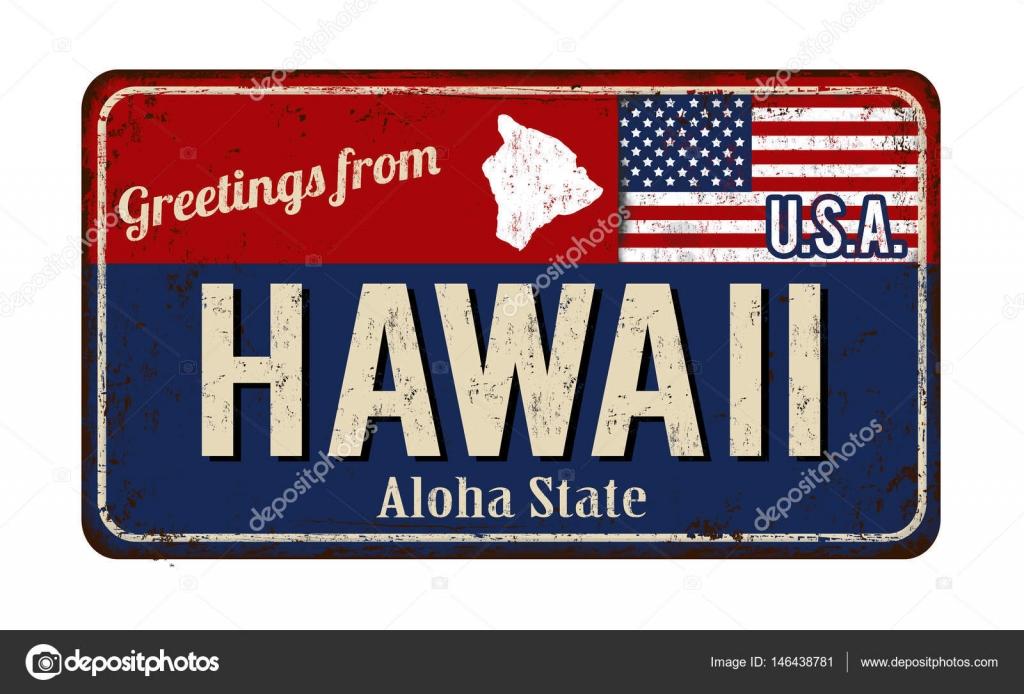 Greetings from hawaii vintage rusty metal sign stock vector greetings from hawaii vintage rusty metal sign stock vector kristyandbryce Choice Image