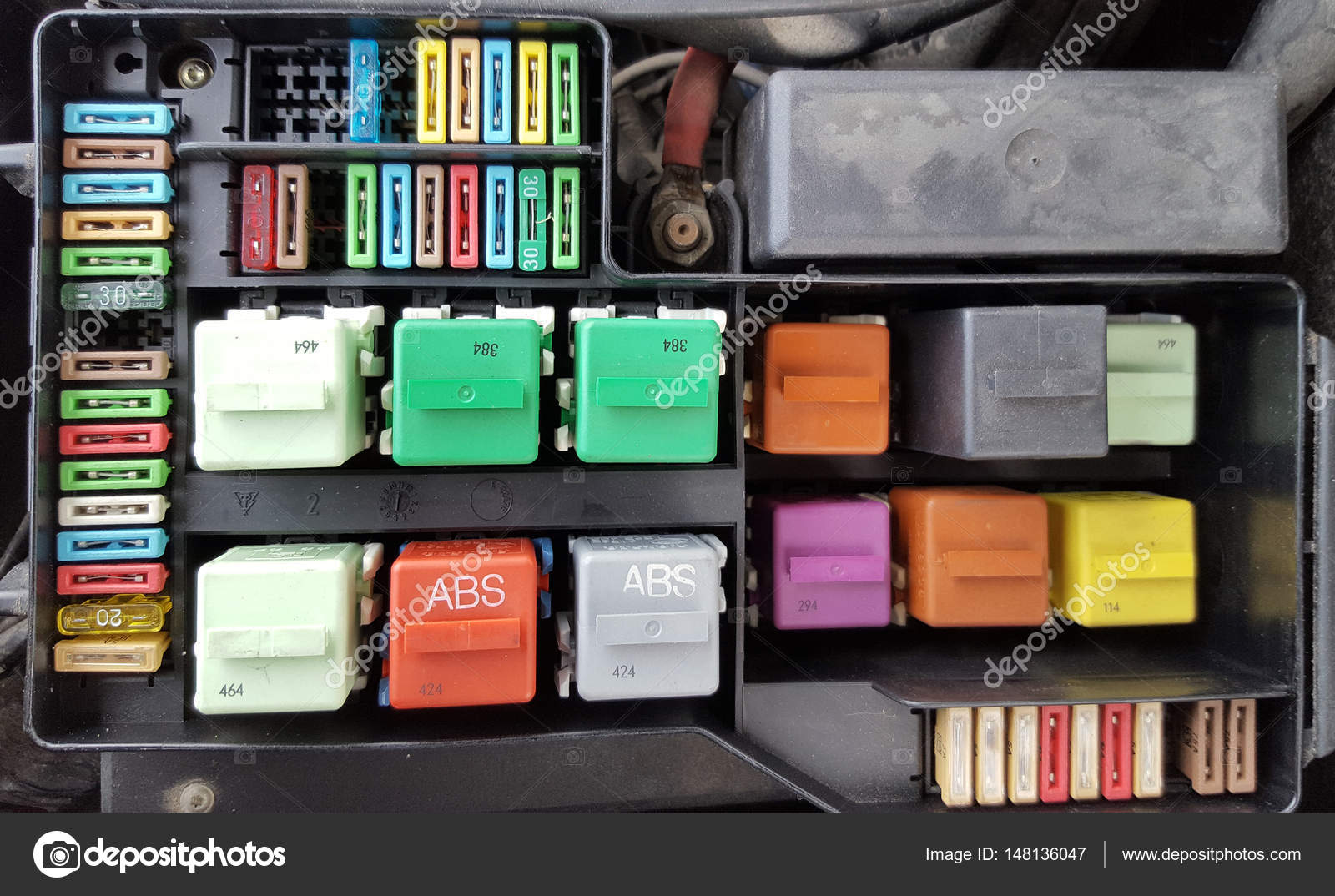 Fuses In Fuse Box Inside The Car Stock Photo Roxanabalint 148136047