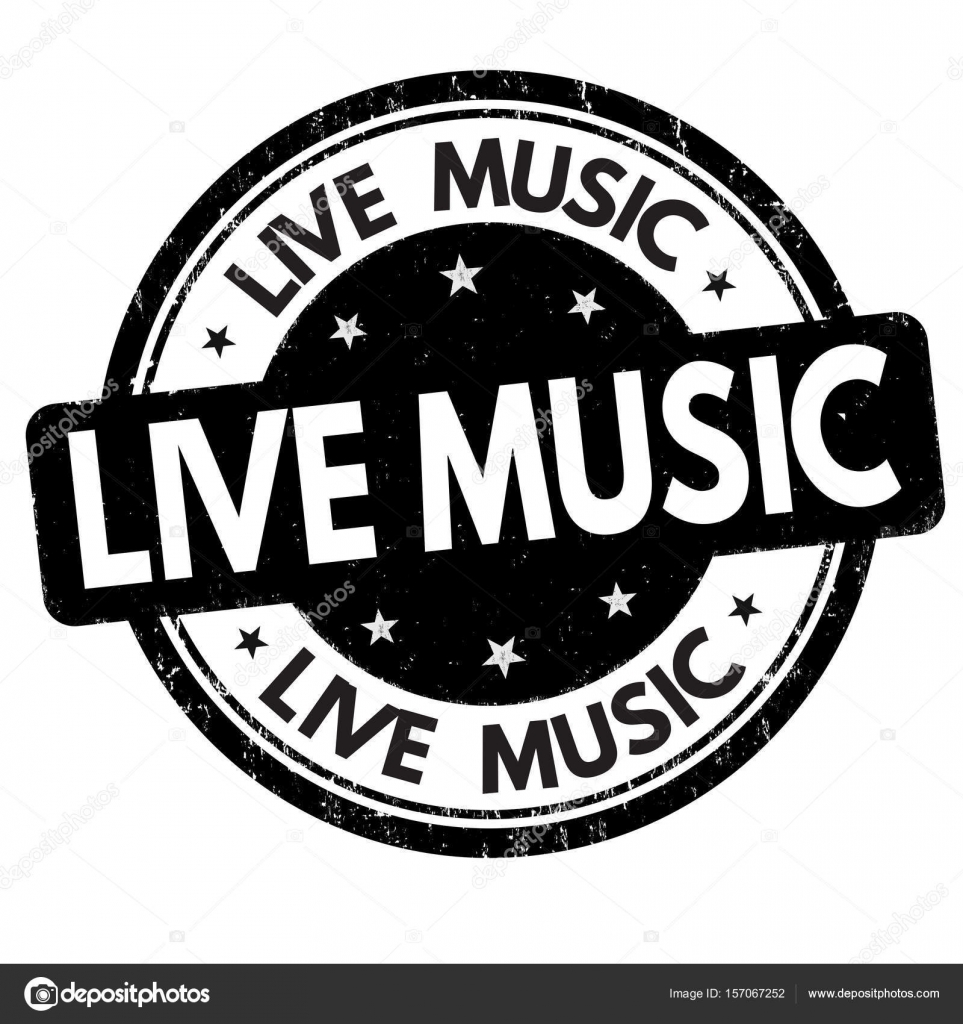 Live Music Sign Or Stamp Stock Vector C Roxanabalint 157067252