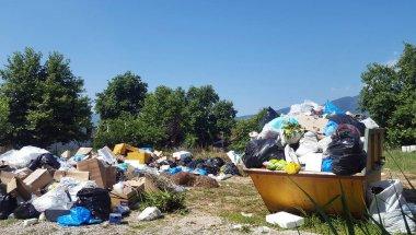 A big pile of garbage