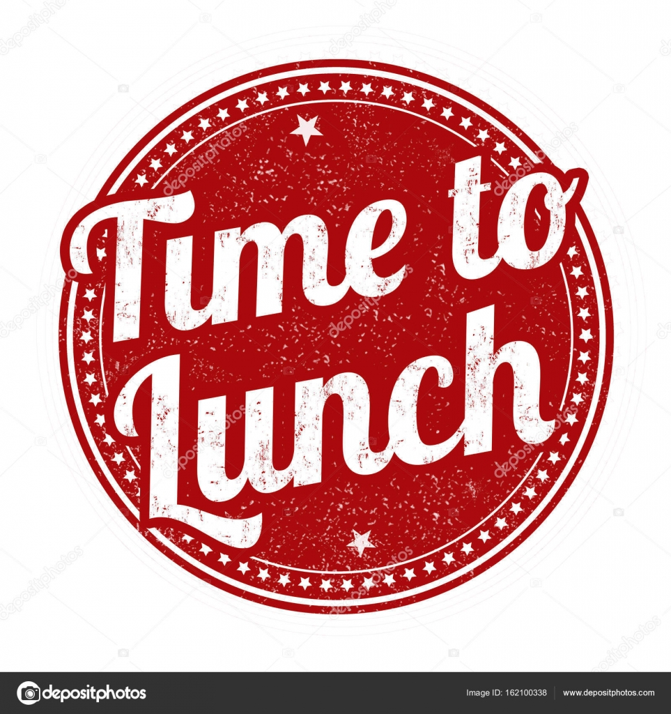 Time To Lunch Sign Or Stamp On White Background Vector Illustration By Roxanabalint