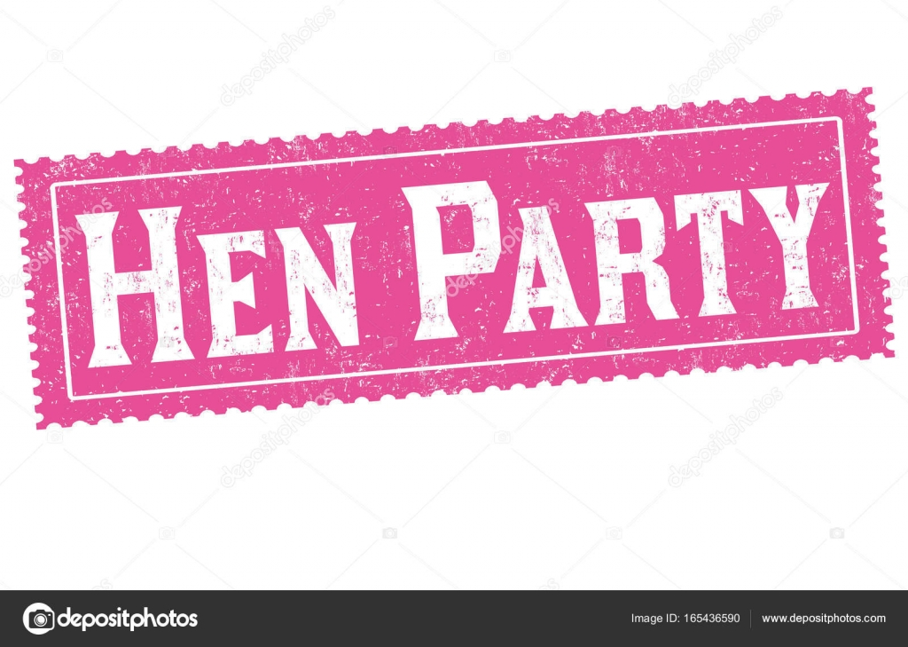 Hen Party Sign Or Stamp Stock Vector