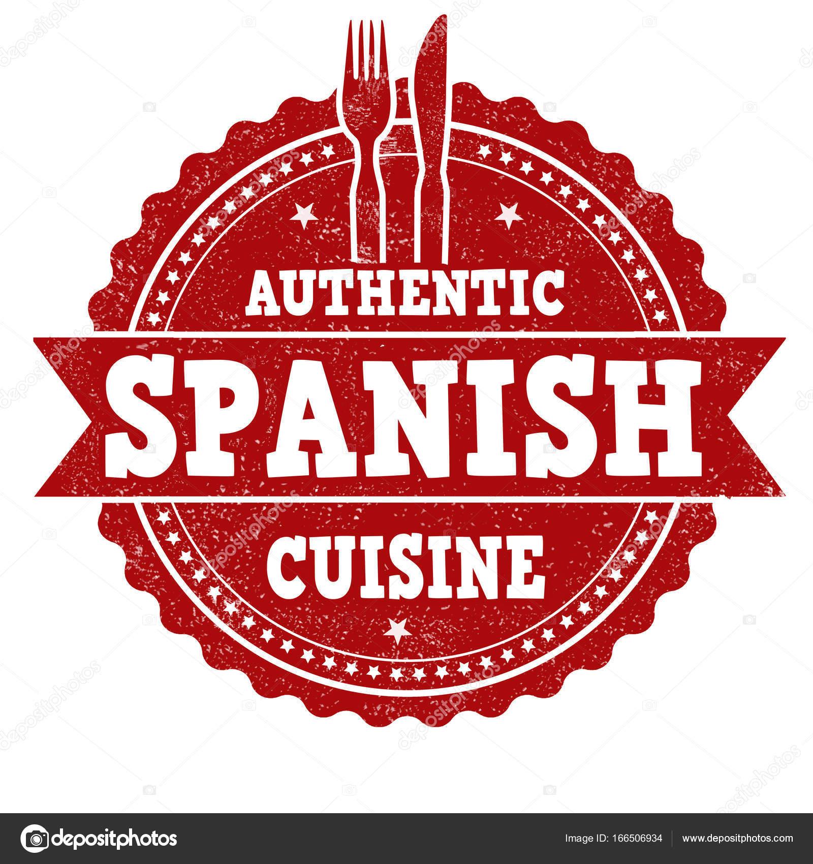 Spanische Küche Zeichen oder Stempel — Stockvektor © roxanabalint ...