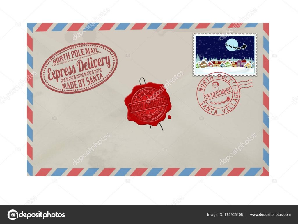 Letter from santa claus with stamps and postage marks stock vector letter from santa claus with stamps and postage marks stock vector spiritdancerdesigns Images