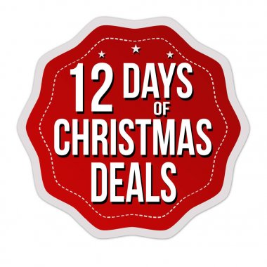 12 days of Christmas deals label or sticker