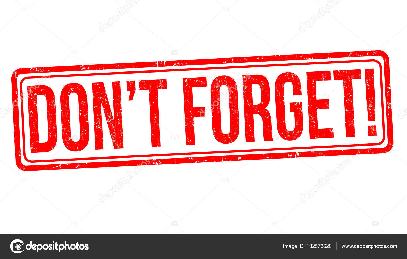 don t forget grunge rubber stamp stock vector roxanabalint rh depositphotos com  don't forget images clip art
