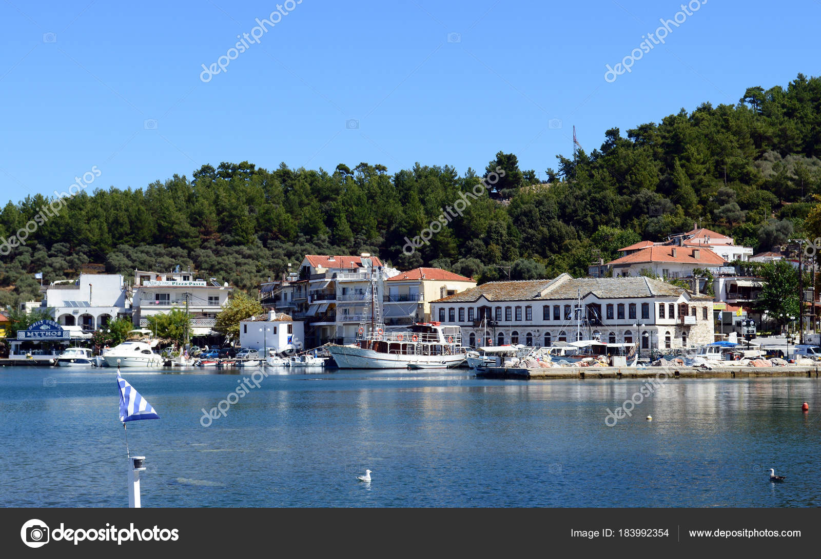 Thassos Greece September 12 2015 Beautiful View Of