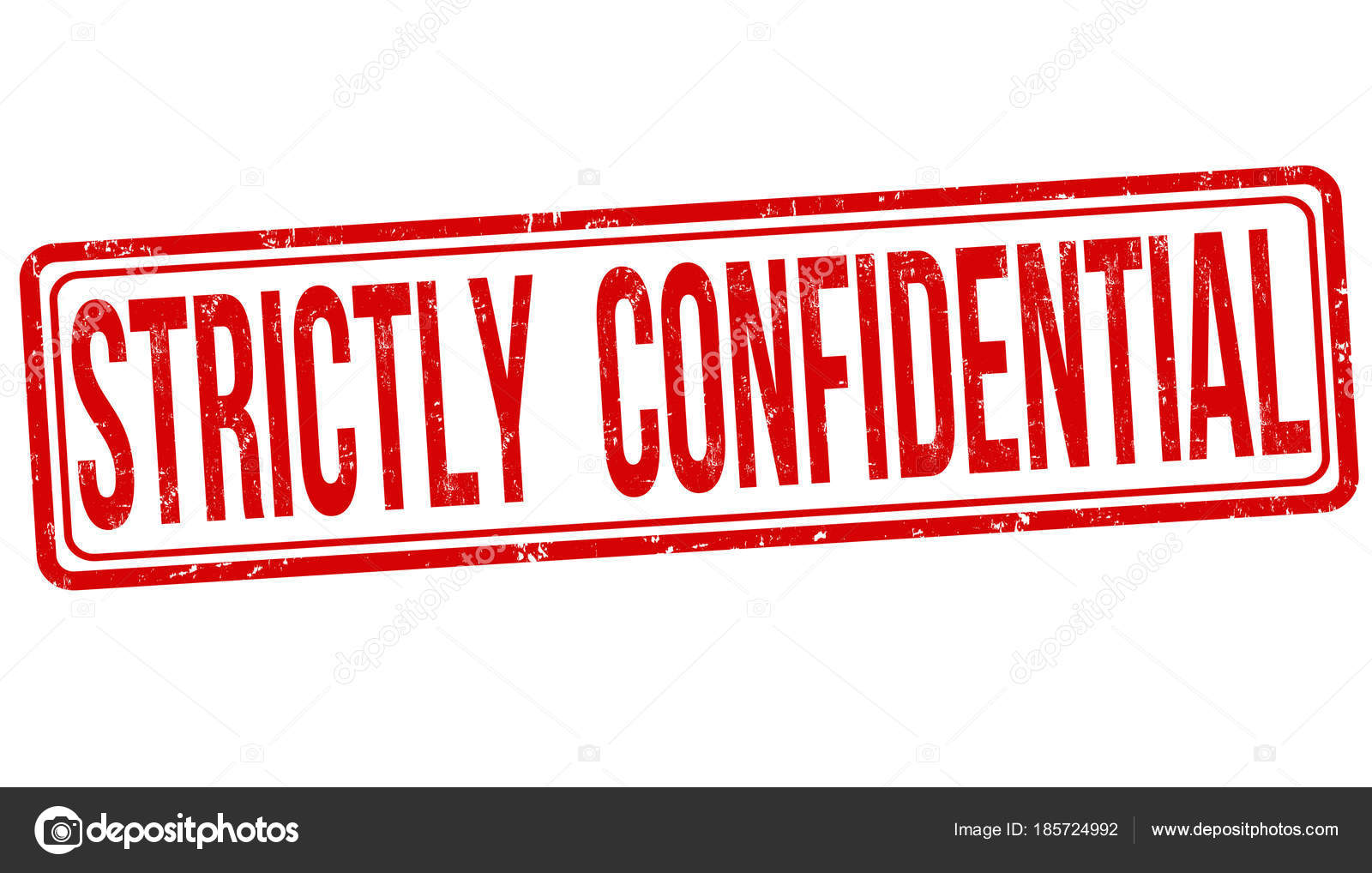 Strictly Confidential Grunge Rubber Stamp Stock Vector