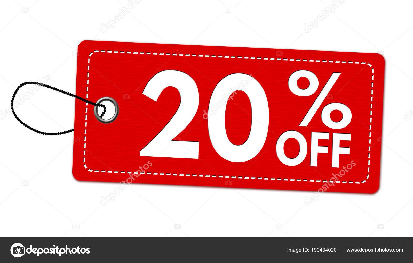 Oferta Especial 20% Off Label O Etiqueta De Precio