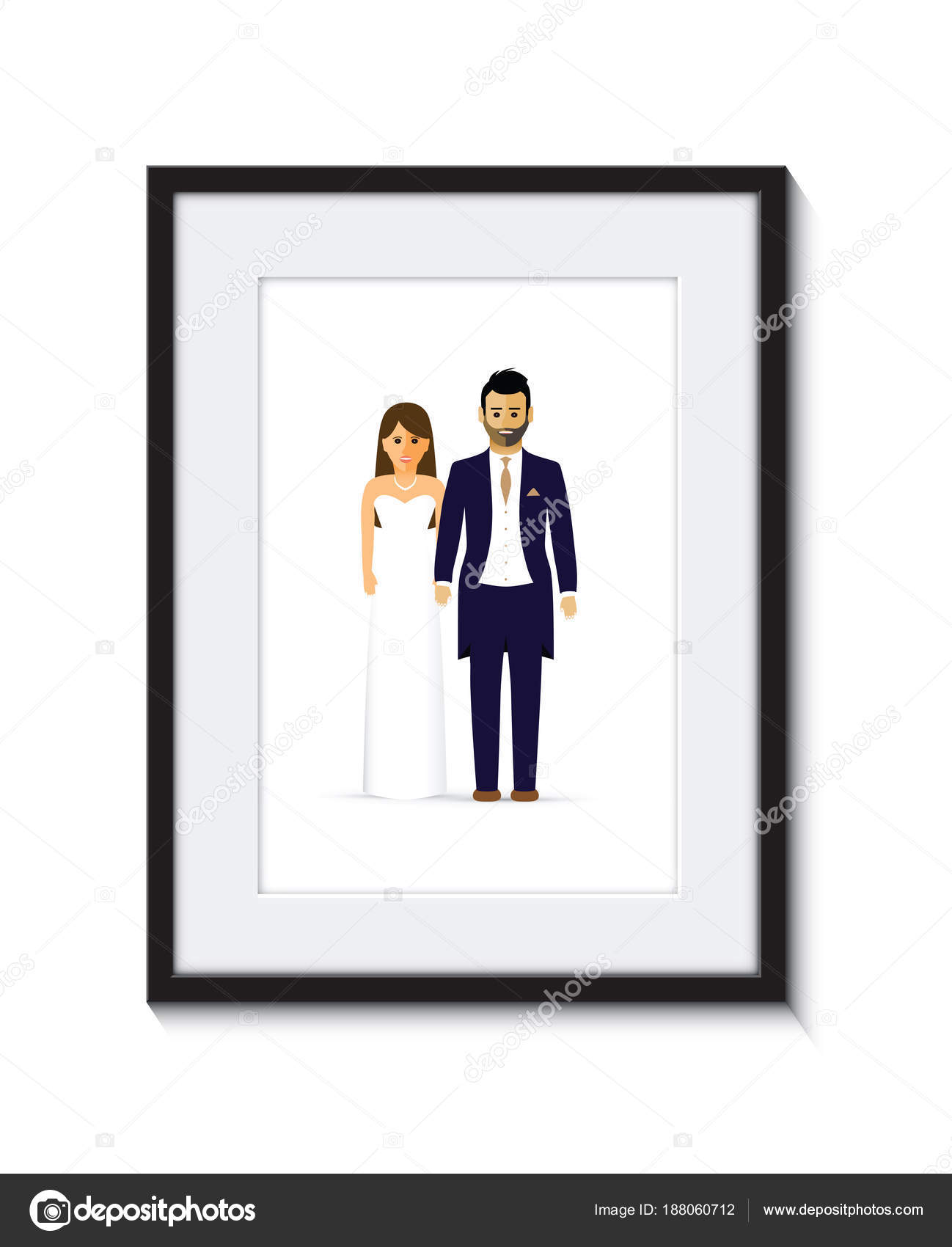 Hochzeit paar Fotorahmen — Stockvektor © jameschipper #188060712