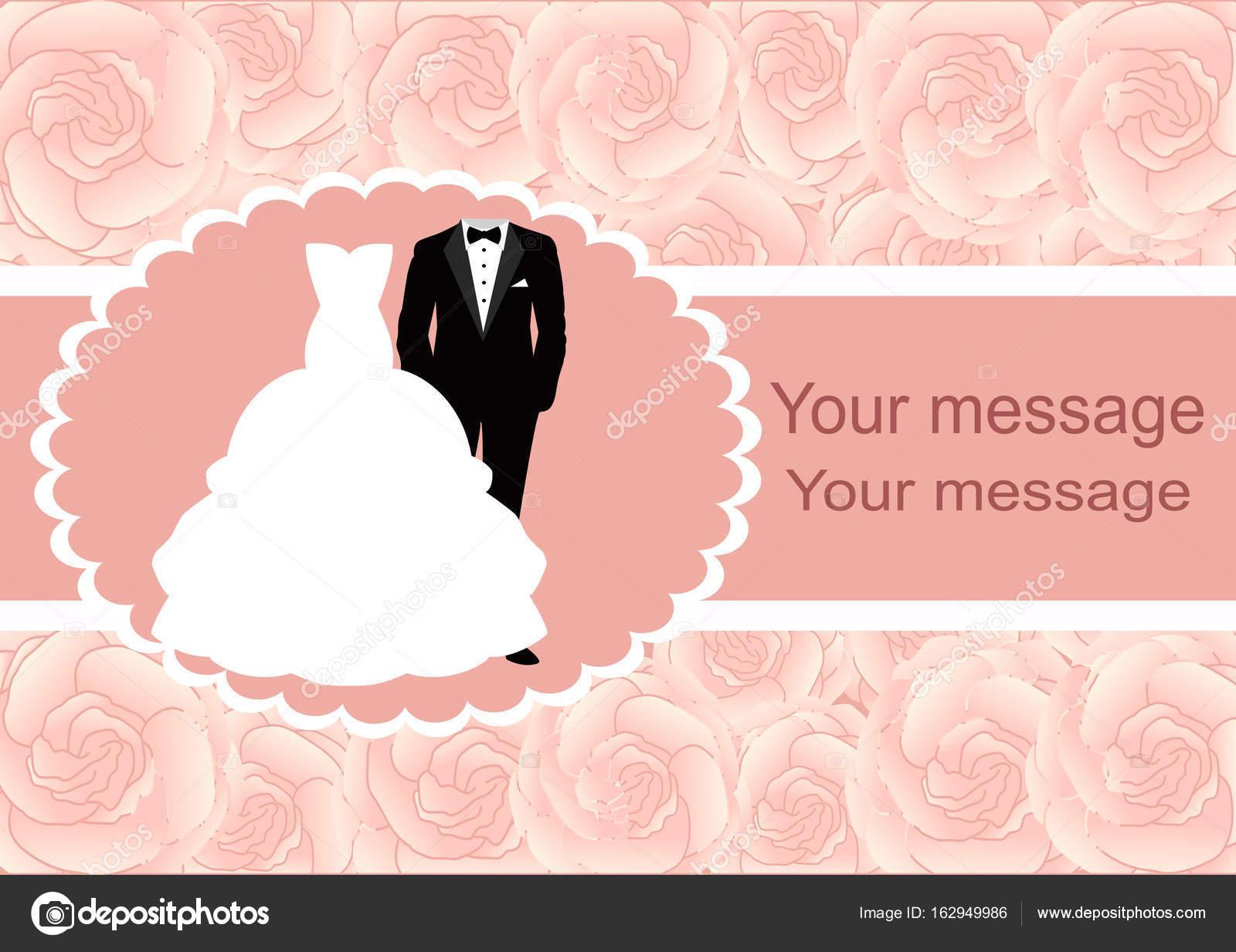 Invitación de boda con marco para texto — Vector de stock ...