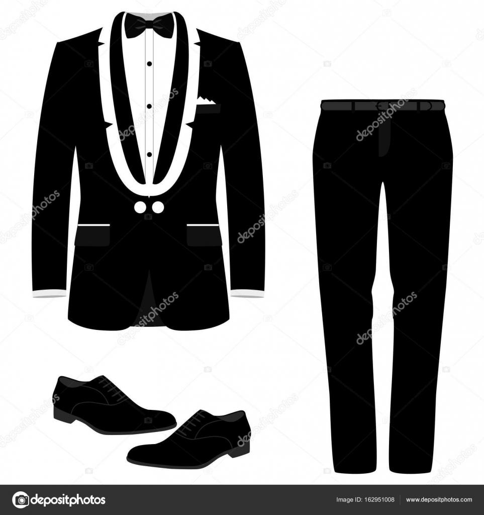 Hochzeit-Herren Anzug mit Schuhen — Stockvektor © pyshustik210905 ...