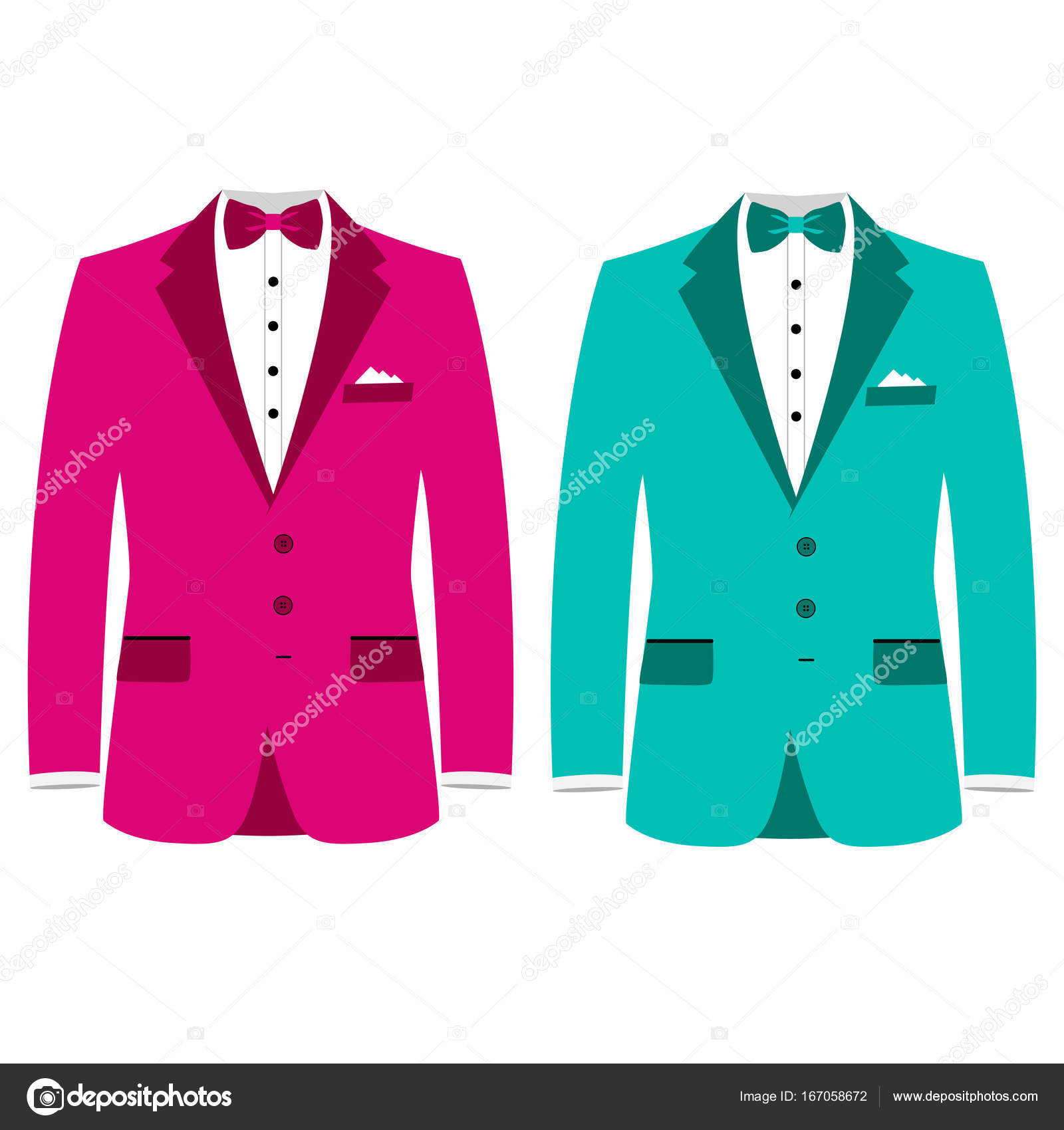 Wedding men\'s suit, tuxedo. — Stock Vector © pyshustik210905.gmail ...