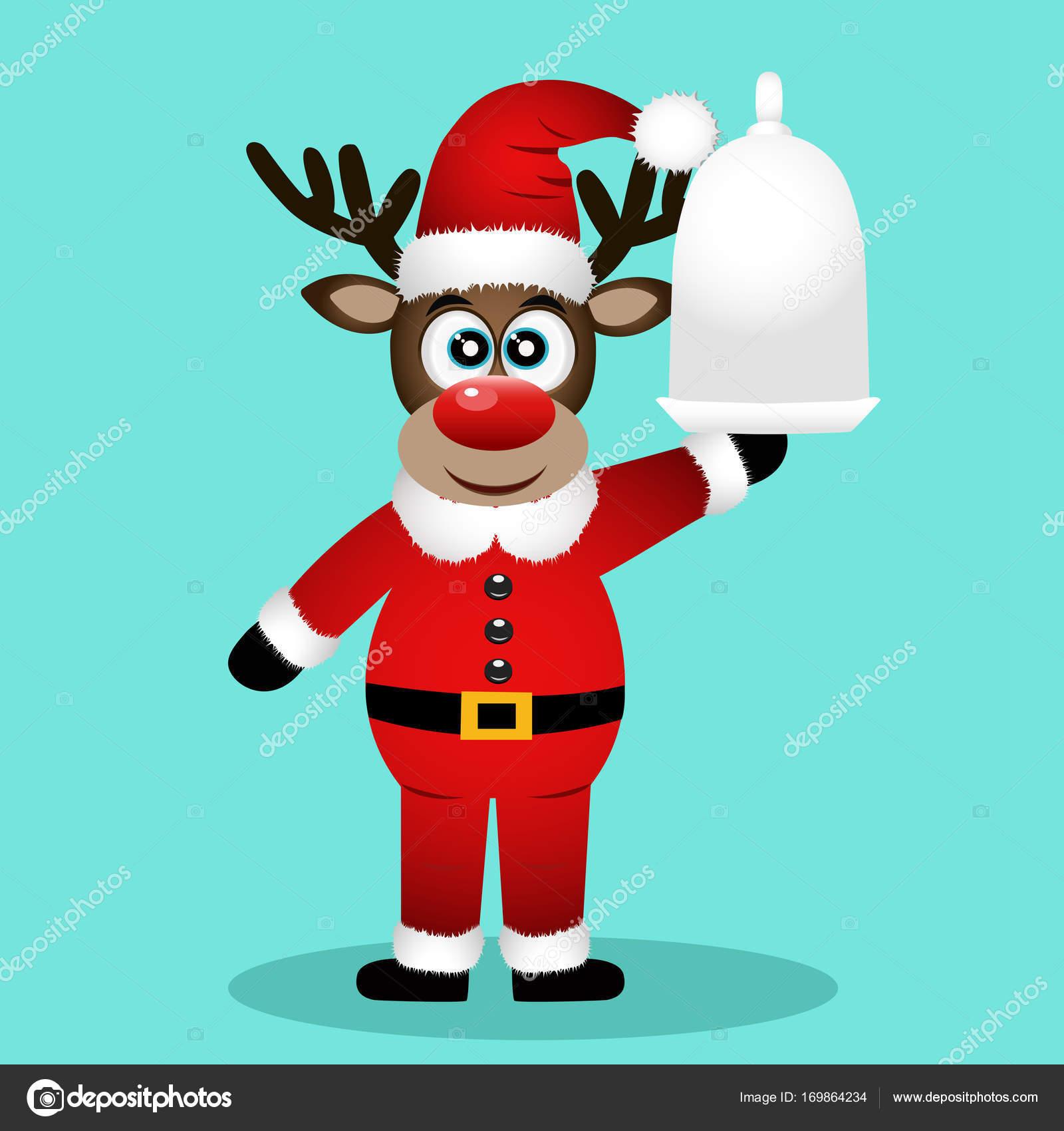 Lustige Bilder Weihnachtsessen.Weihnachten Rentier Weihnachtsessen Stockvektor