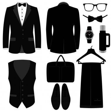 Men's Accessories. Flat design.