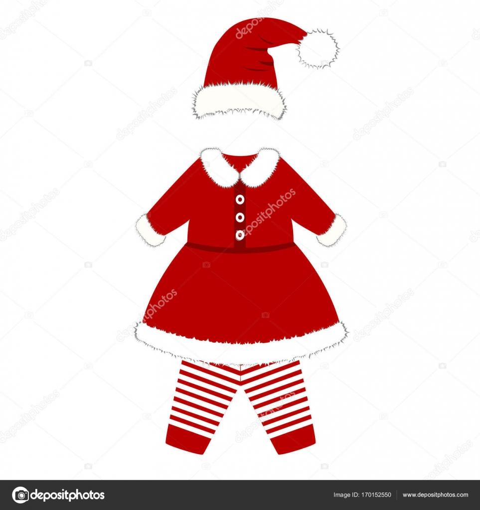 Kruippakje Kerst Kostuum Voor Kinderen Stockvector