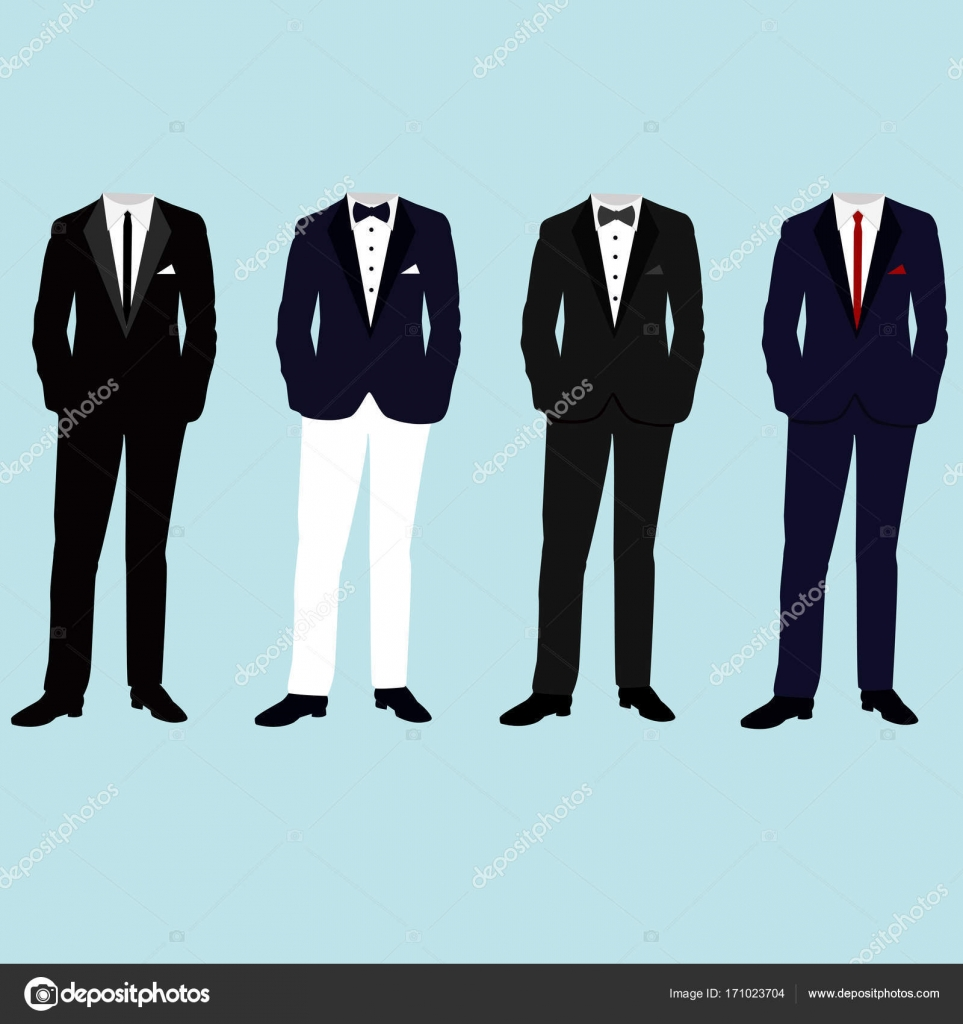 Wedding mens suits. Collection. — Stock Vector © pyshustik210905 ...