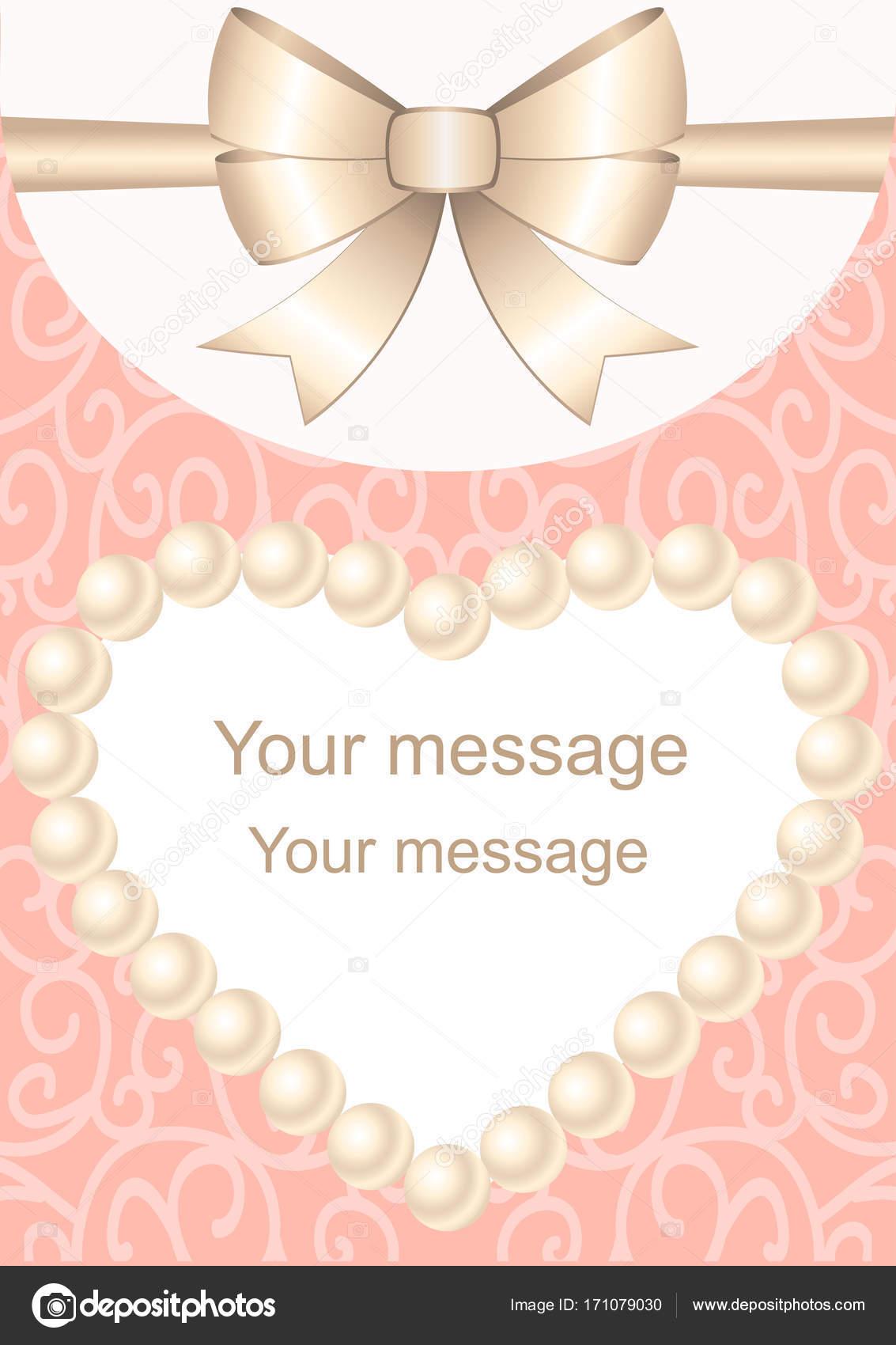 Invitación de boda con marco para texto y arco — Vector de stock ...