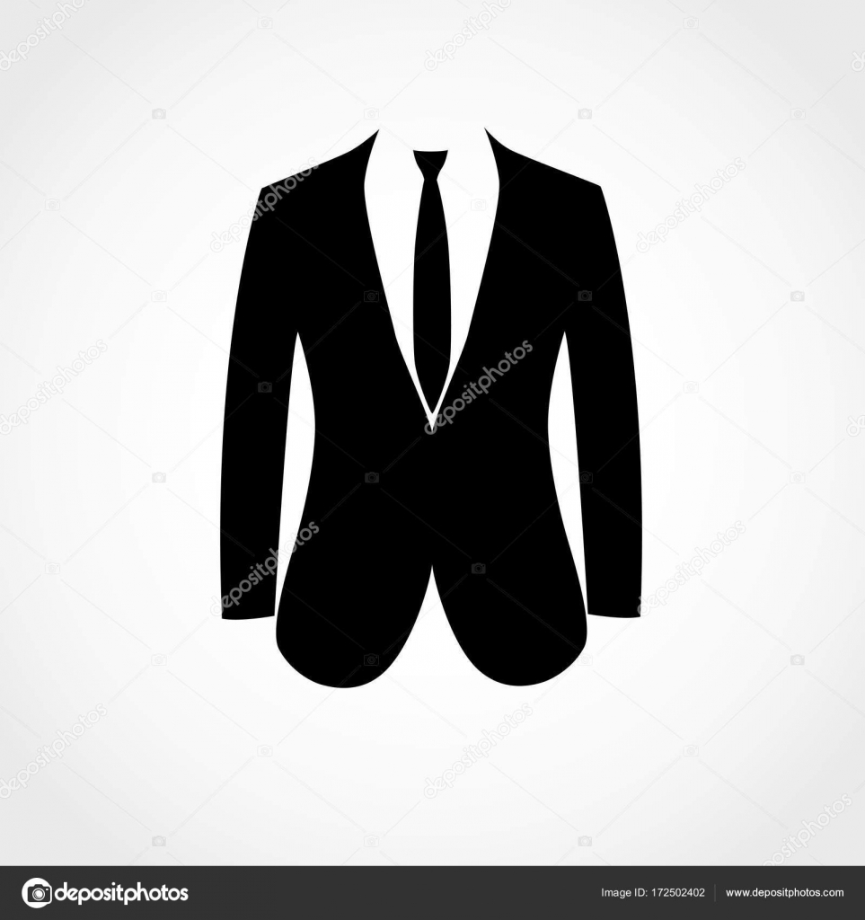 Suit icon isolated on white background. \u2014 Stock Vector