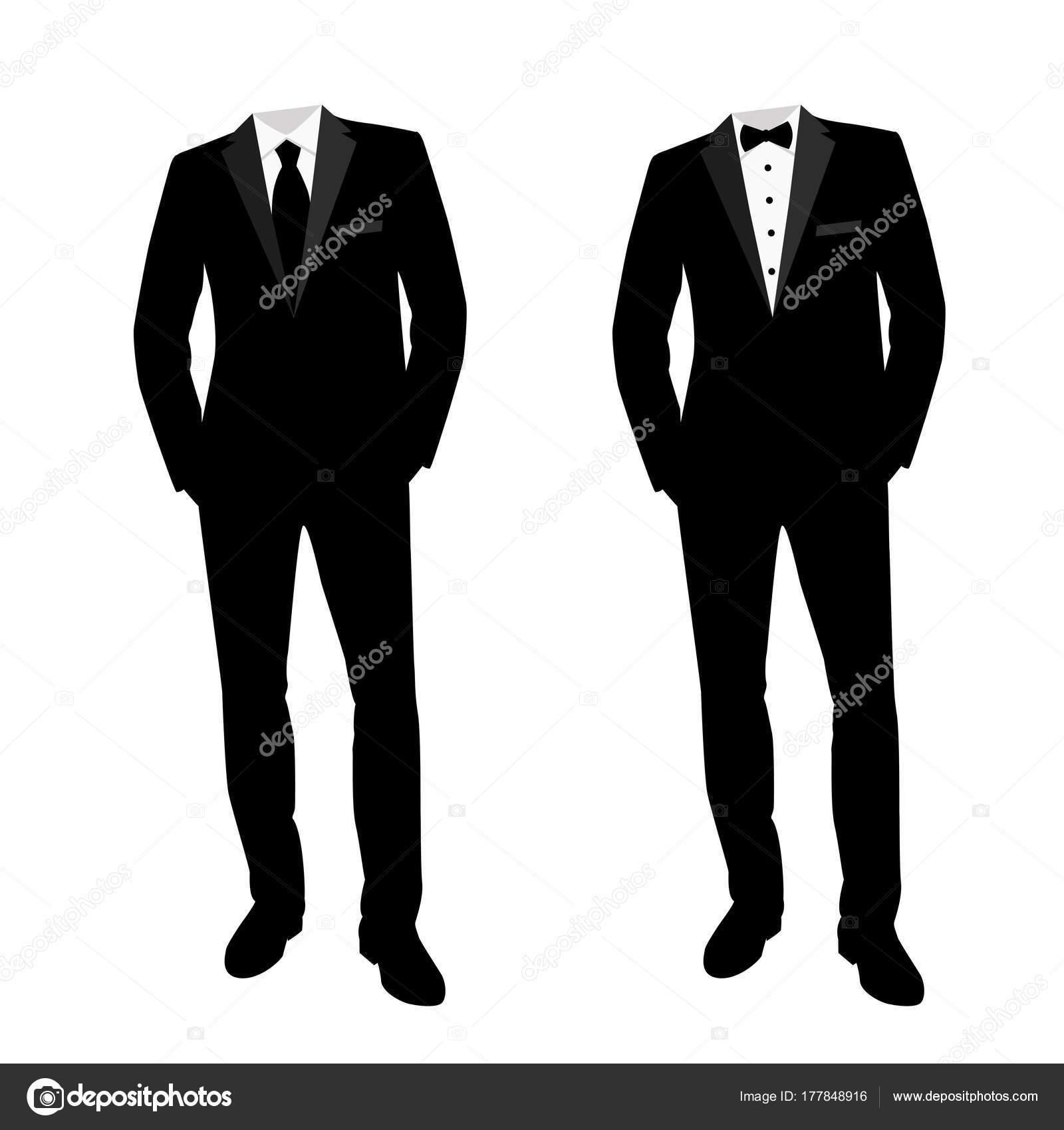 d2439c68228a79 Чоловіча Весільний костюм і смокінг. Колекція. — Стоковий вектор ...