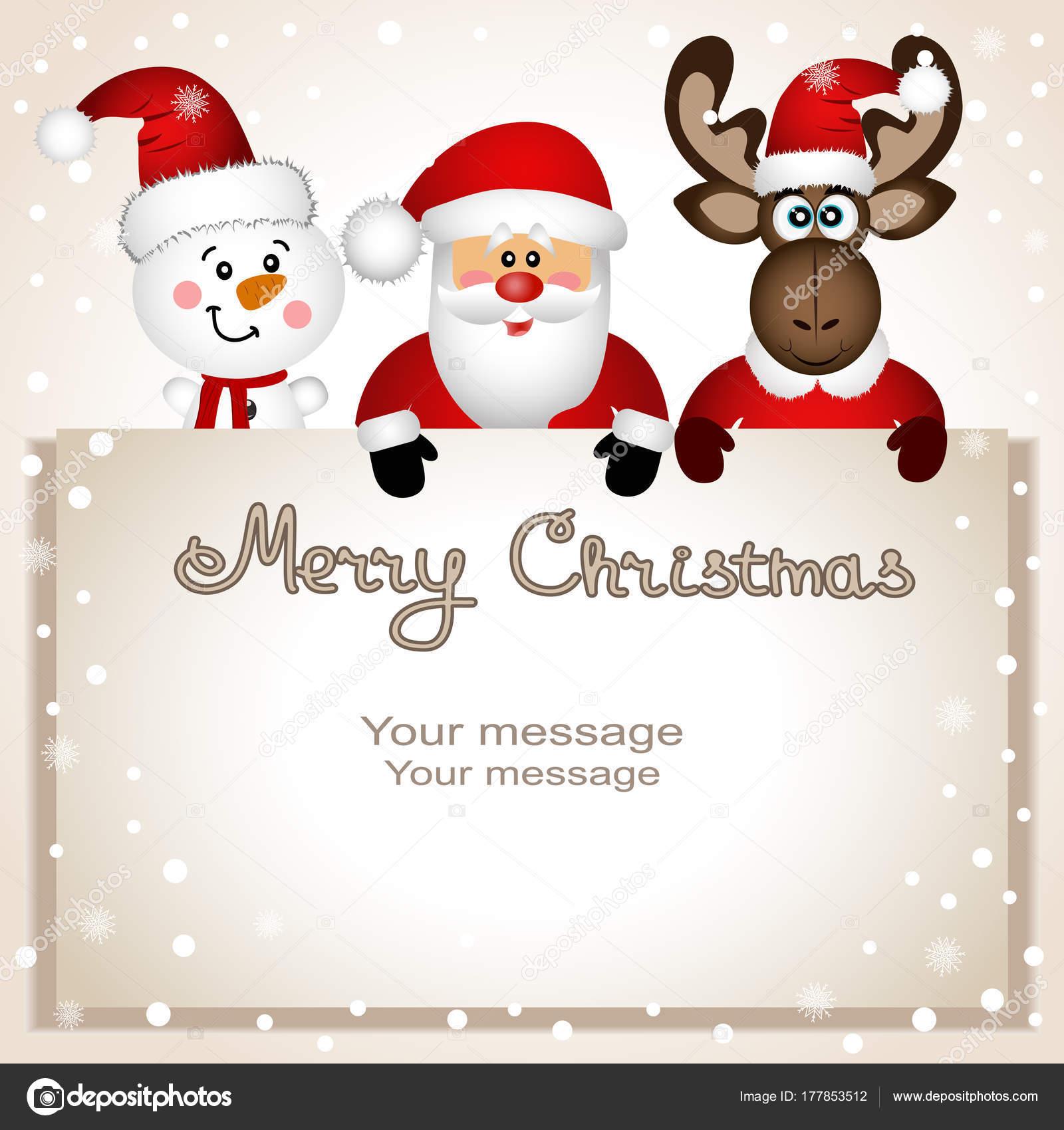 weihnachtskarte lustige postkarte mit schneemann elch. Black Bedroom Furniture Sets. Home Design Ideas