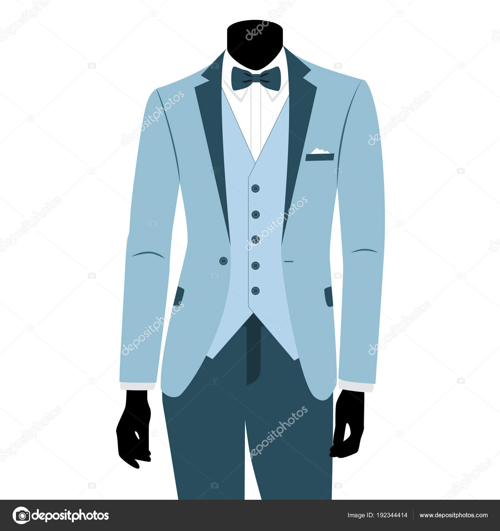 Wedding men\'s suit and tuxedo. — Stock Vector © pyshustik210905 ...