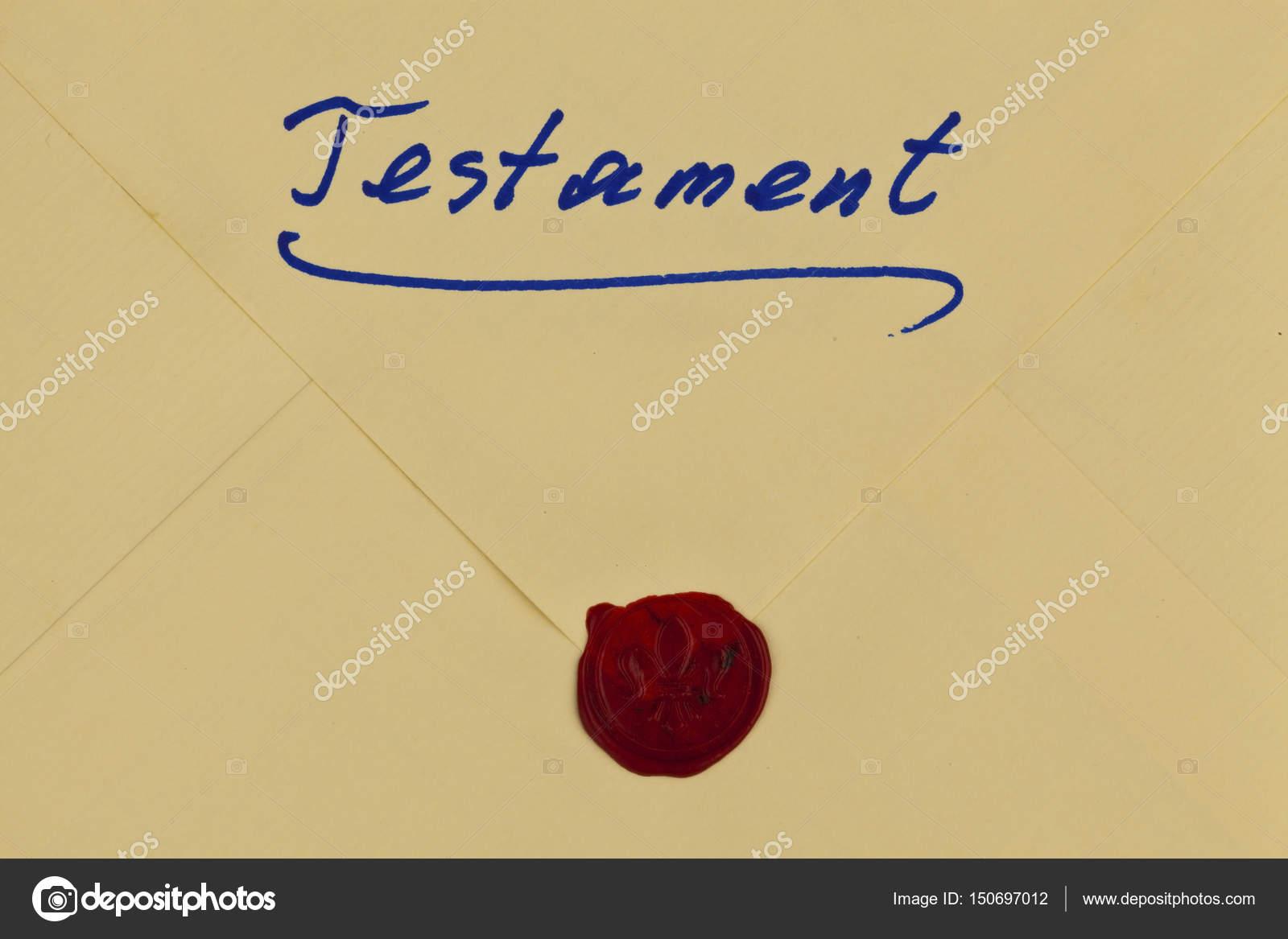 Testamento en alemán — Foto de stock © ginasanders #150697012