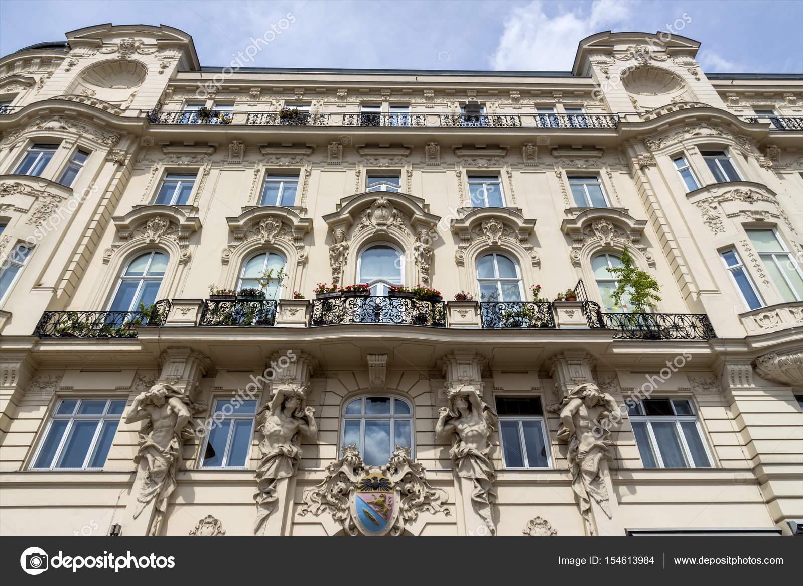 Austria vienna. on naschmarktstehen several beautiful art nouveau building.  — Photo by ginasanders