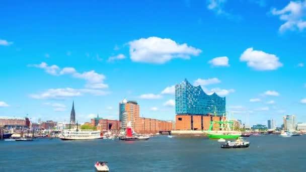 Zeitraffer, Blick auf Hamburger Hafengeburtstag