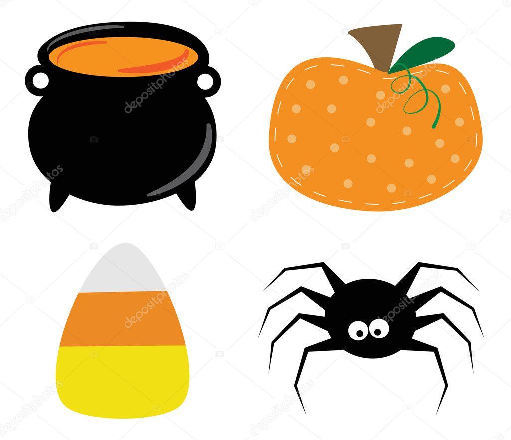 Halloween Artikelen.Happy Halloween Artikelen Stockvector C Keeweegirl 126481456