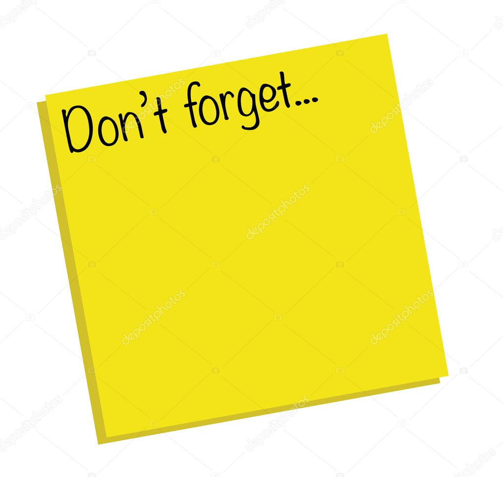 Dont forget note