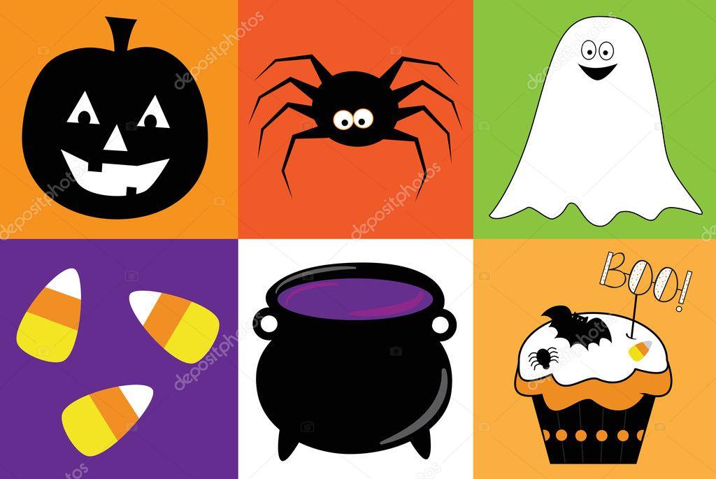 Halloween Artikelen.Happy Halloween Artikelen Stockvector C Keeweegirl 126602586