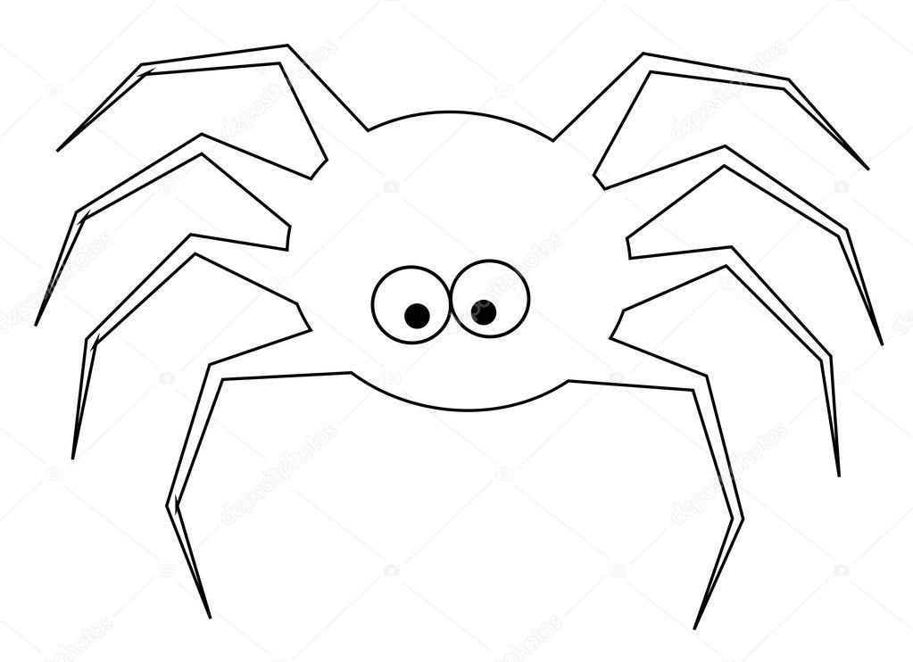 Página Para Colorear De Arañas Archivo Imágenes Vectoriales