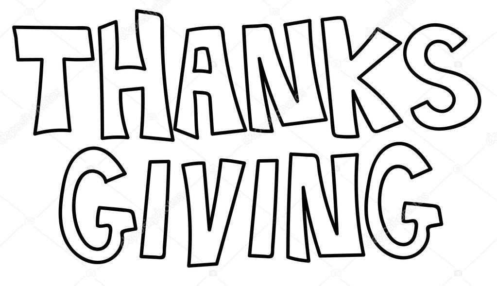 Página para colorear de acción de gracias — Vector de stock ...